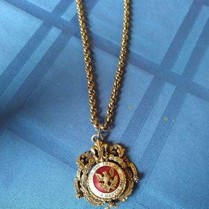 Antique Coro Pendant and chain